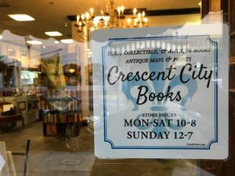 Crescent Book sign